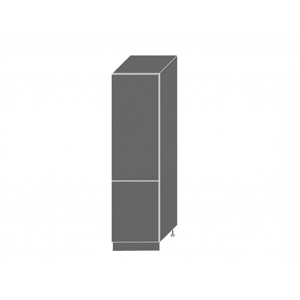 PLATINUM, skříňka pro vestavnou lednici D14DL 60, korpus: grey, barva: rose red