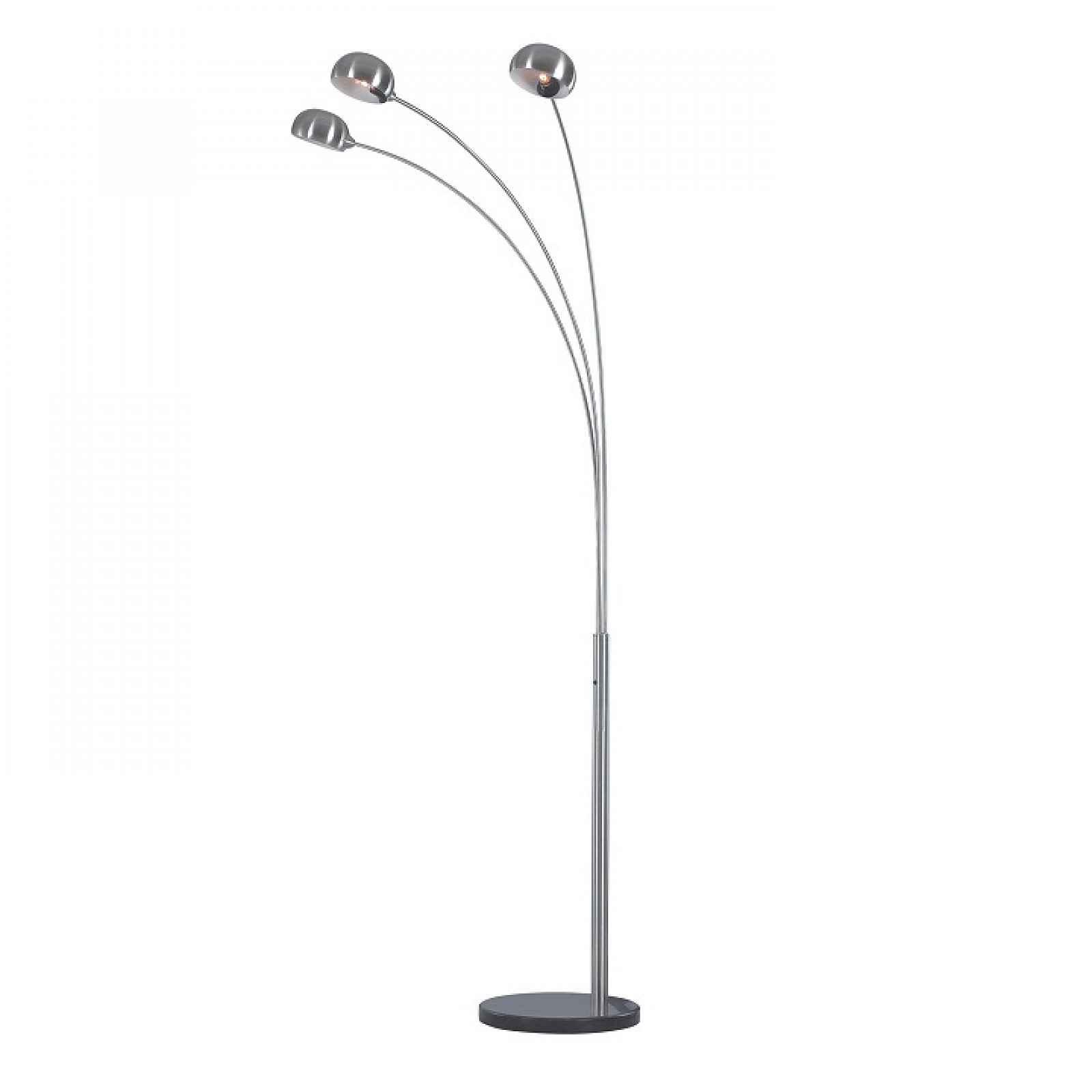Stojací lampa, šedý kov / mramor, CINDA TYP 1 0000190694 Tempo Kondela