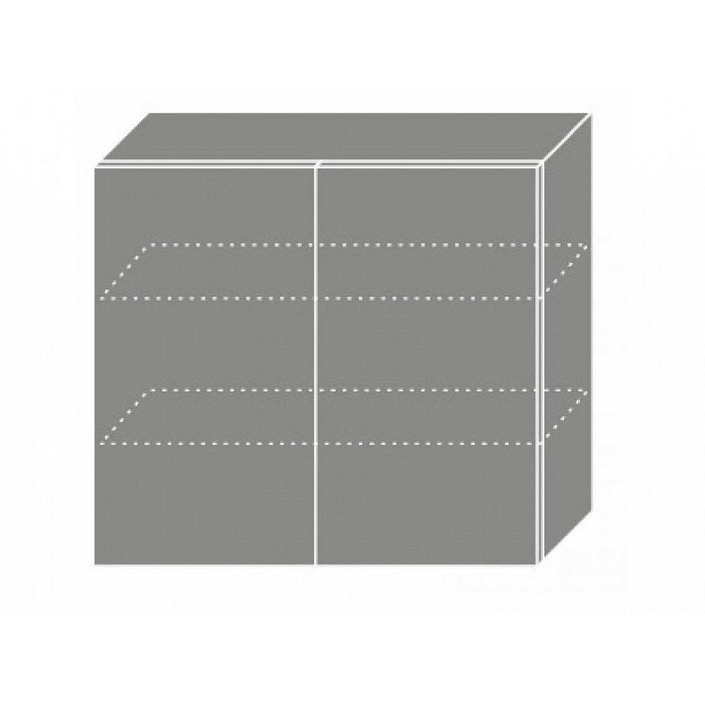 PLATINUM, skříňka horní W3 80, korpus: grey, barva: rose red