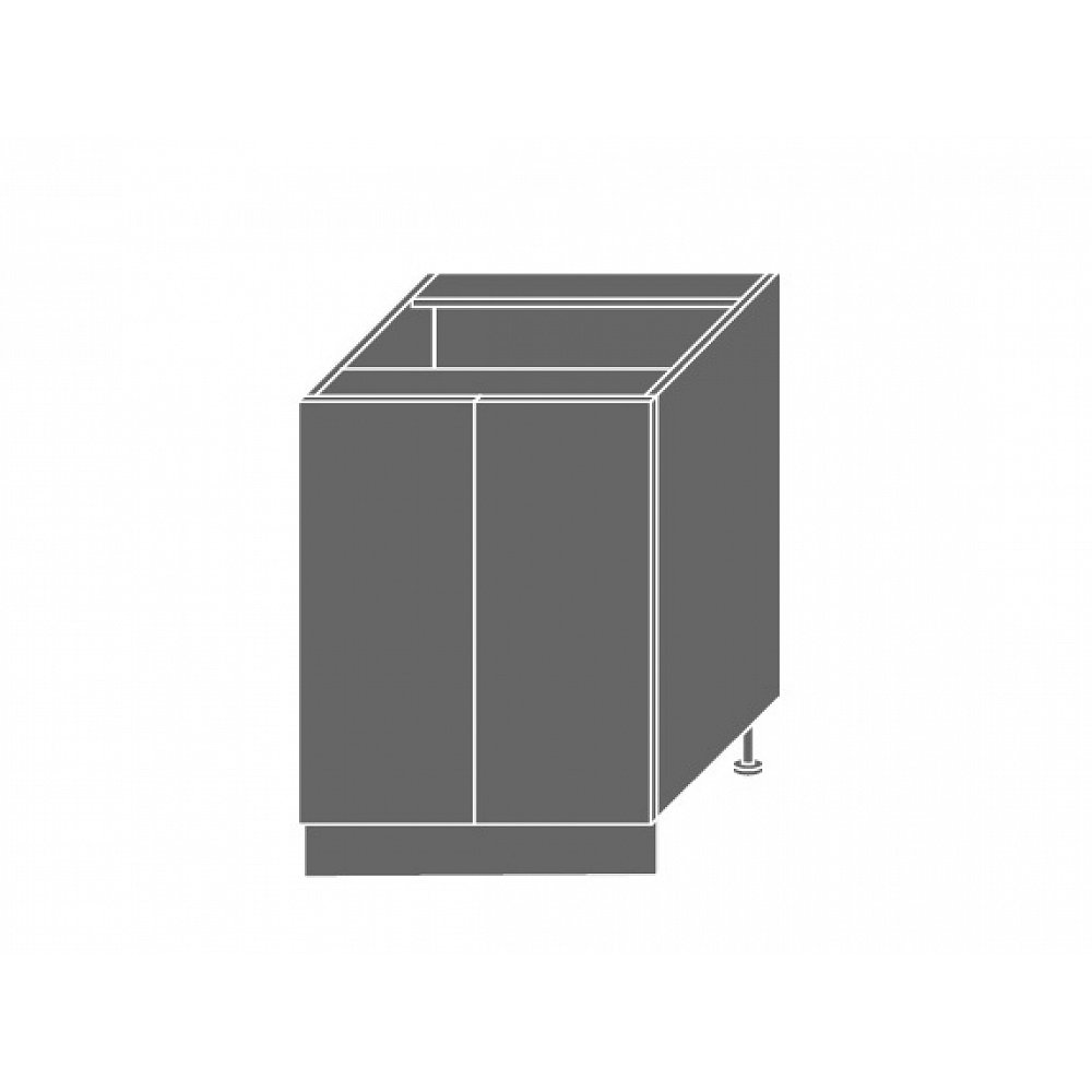 PLATINUM, skříňka dolní D11 60, korpus: grey, barva: vanilla