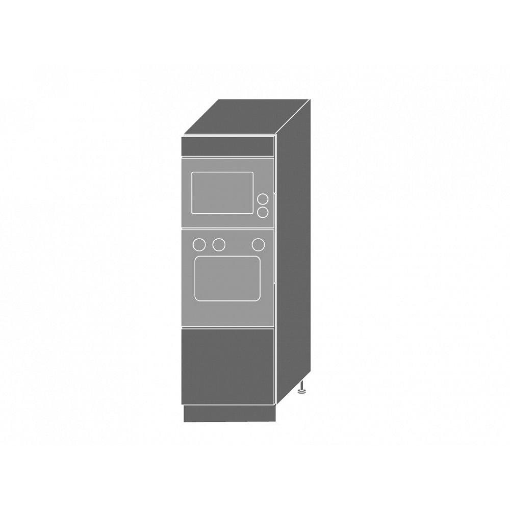 PLATINUM, skříň pro vestavbu D5AM/60/154, korpus: grey, barva: black