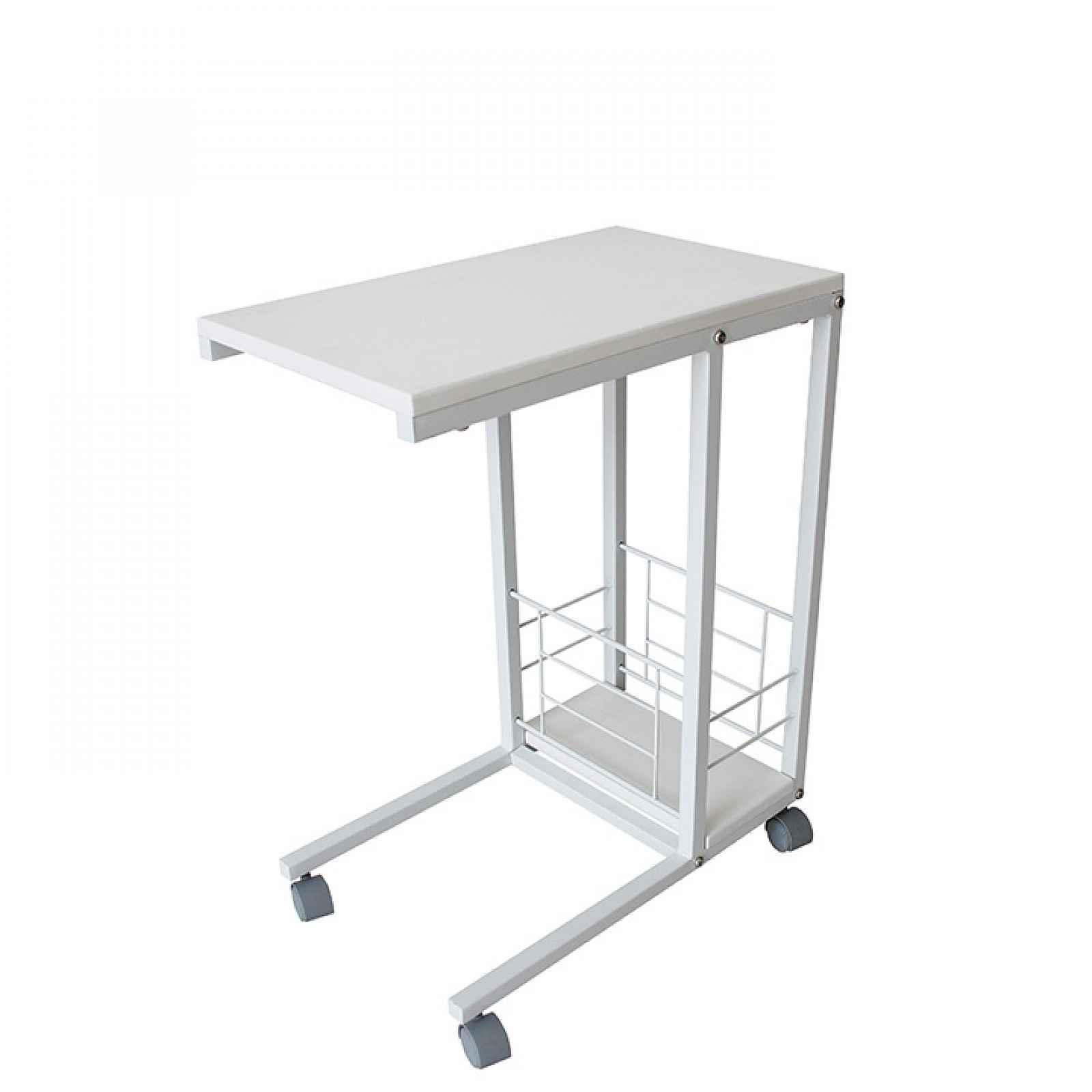 Příruční stolek na kolečkách, bílá, CARMEL 0000235711 Tempo Kondela