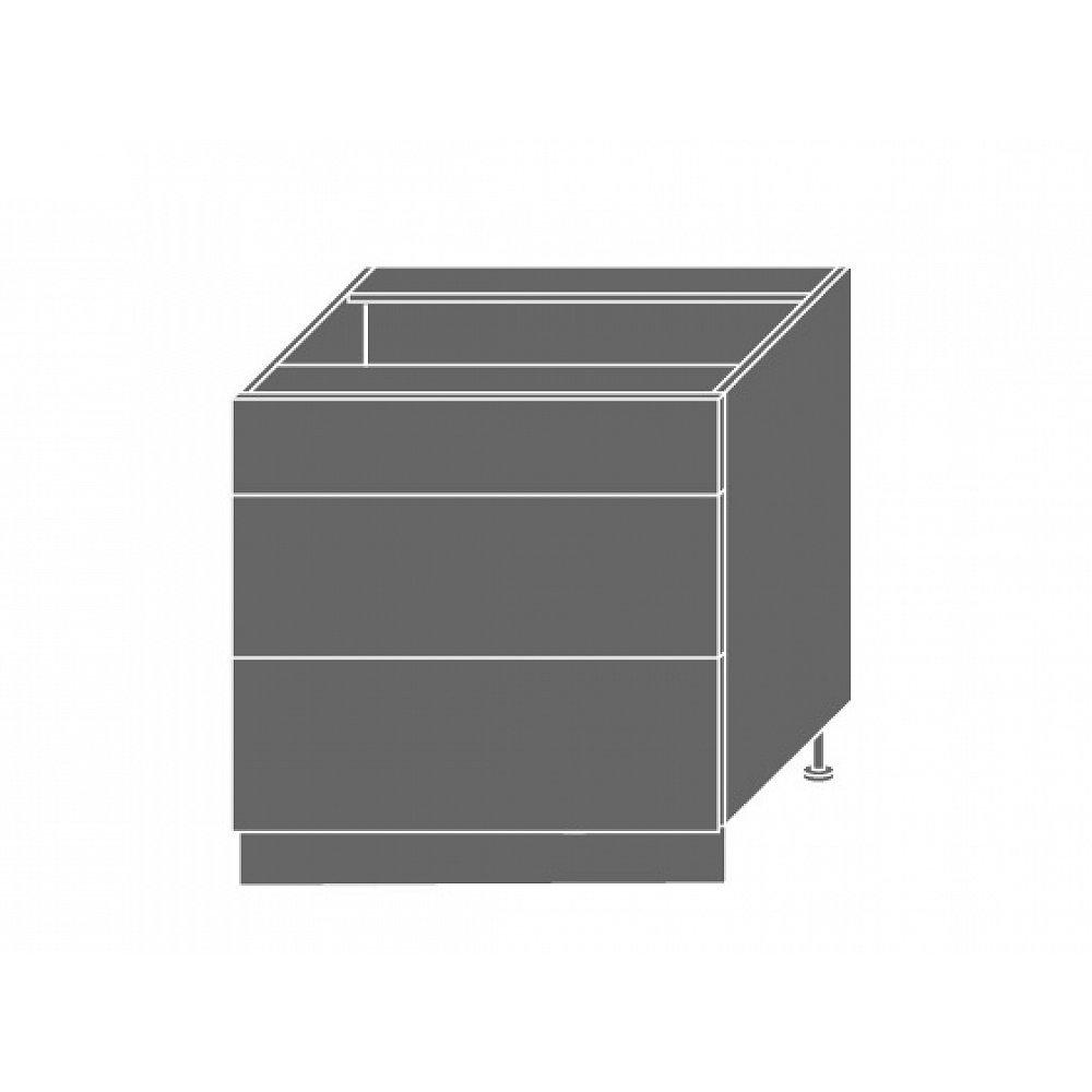 PLATINUM, skříňka dolní D3E 80, korpus: grey, barva: black