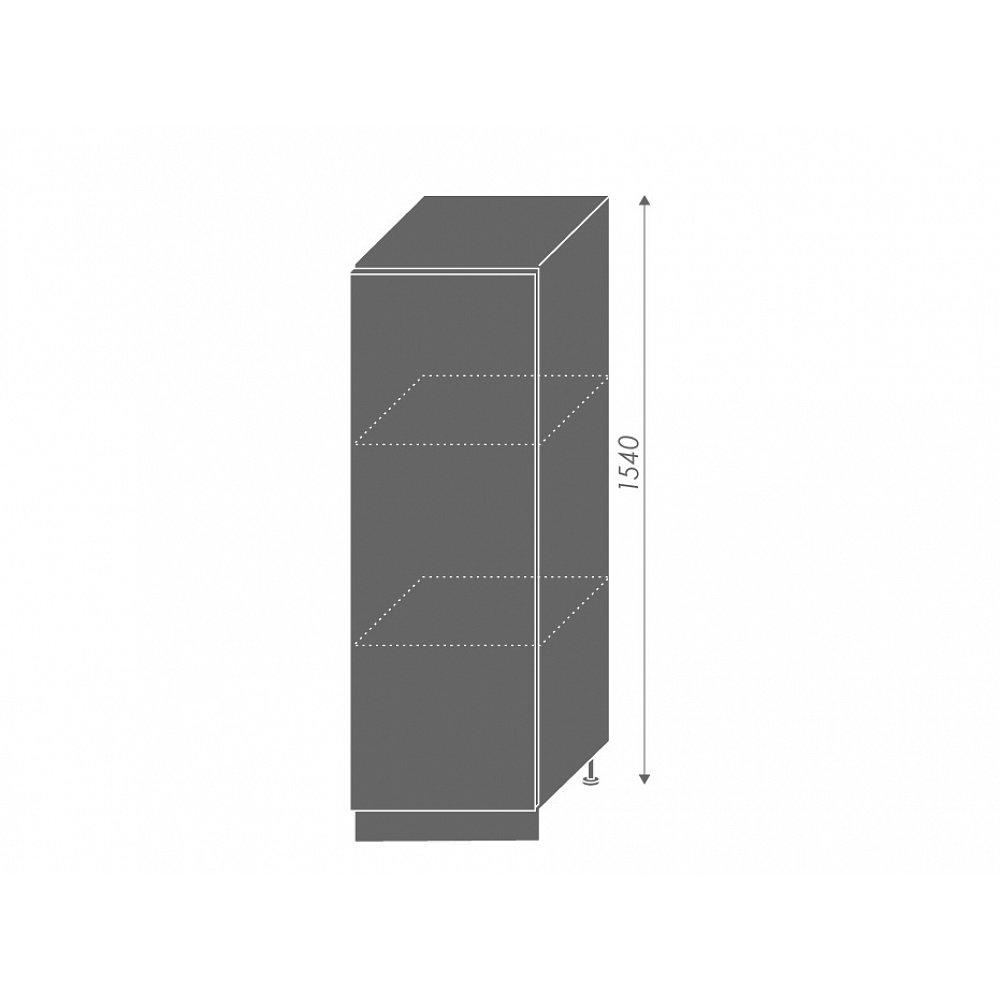 PLATINUM, skříňka dolní  D5D/60/154, korpus: grey, barva: vanilla