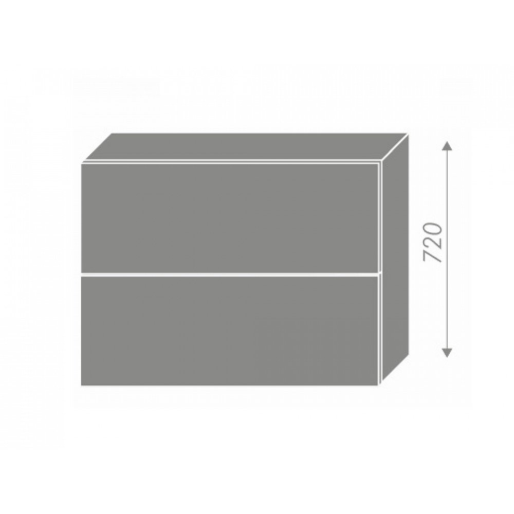 PLATINUM, skříňka horní W8B 90 AV, korpus: grey, barva: black