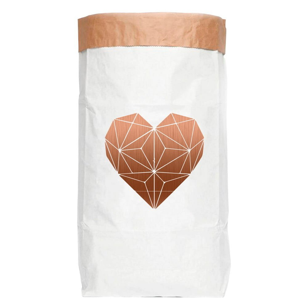 Úložný pytel z recyklovaného papíru Really Nice Things Most Heart
