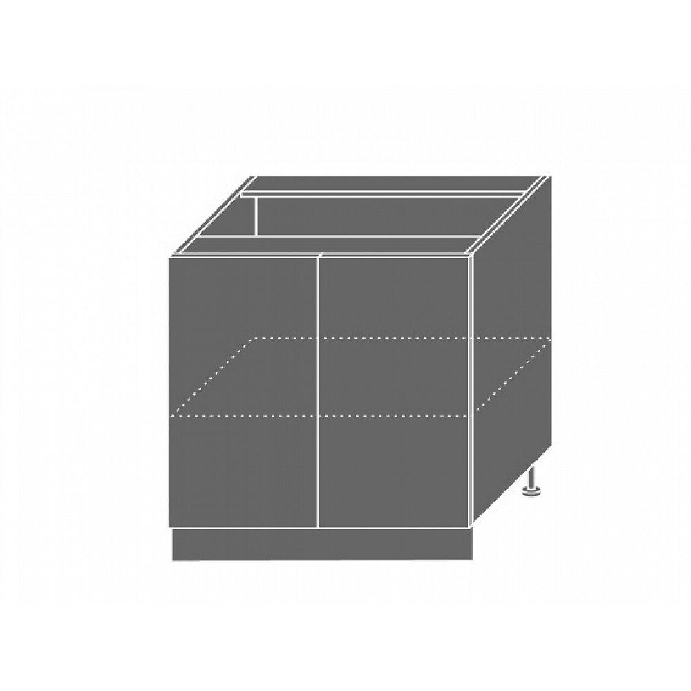 PLATINUM, skříňka dolní D11 80, korpus: grey, barva: black