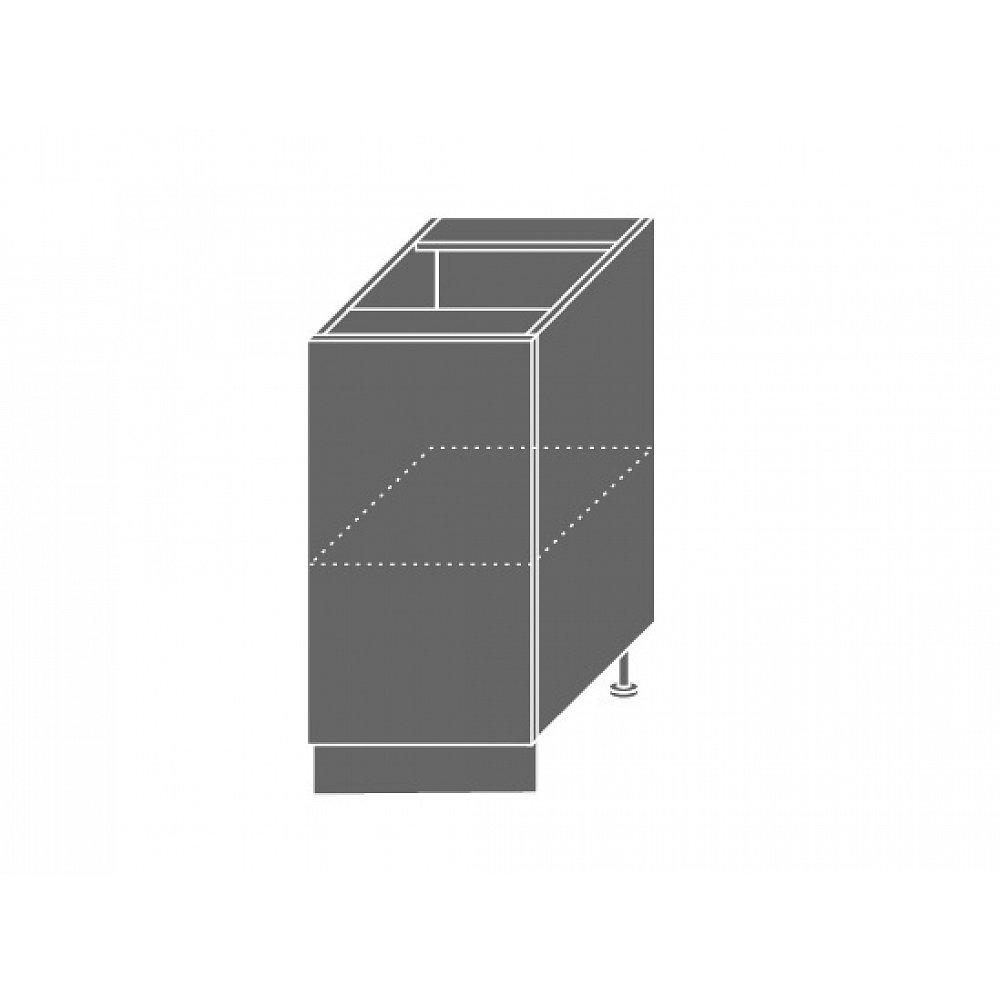 PLATINUM, skříňka dolní D1d 40, korpus: grey, barva: black