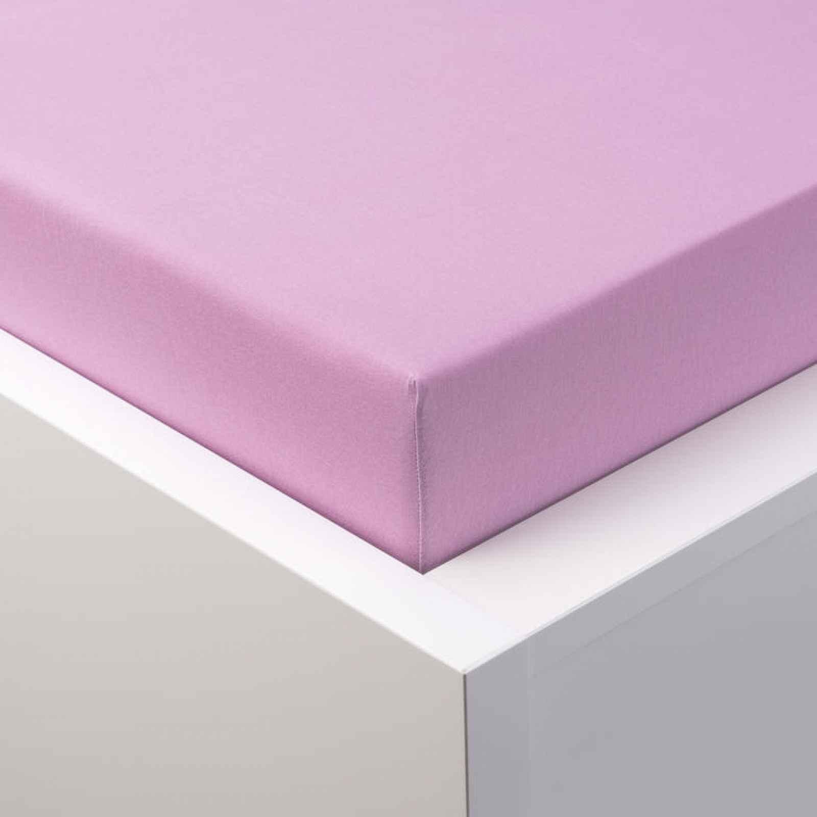 Hermann Cotton Napínací prostěradlo jersey s elastanem světle fialové 180 x 200 cm
