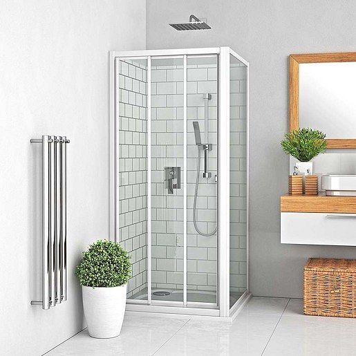 Boční zástěna ke sprchovým dveřím 100x190 cm Roth Lega Line bílá 412-1000000-04-02