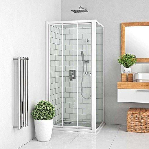Boční zástěna ke sprchovým dveřím 100x190 cm Roth Lega Line bílá 412-1000000-04-11