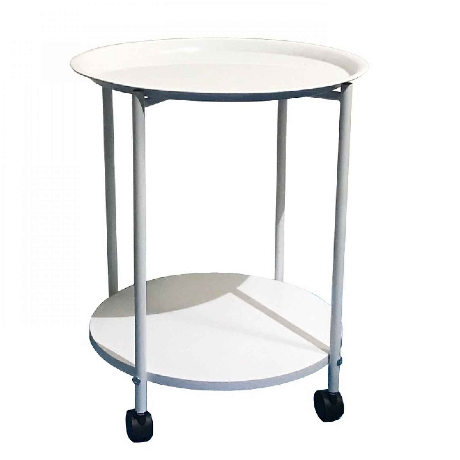 Příruční stolek s kolečky, bílá, DERIN 0000191803 Tempo Kondela