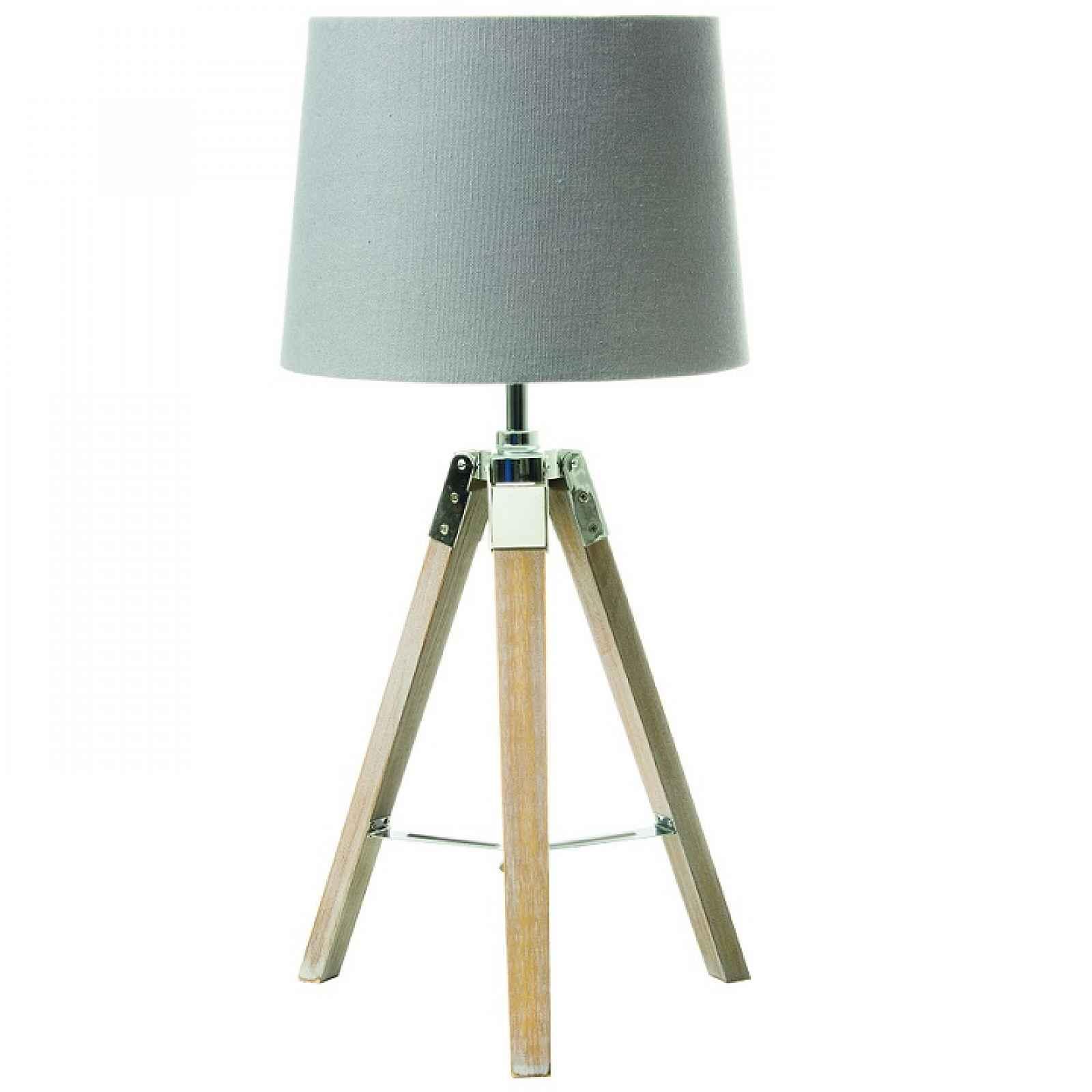 Stolní lampa, šedá, JADE TYP 2 0000192026 Tempo Kondela