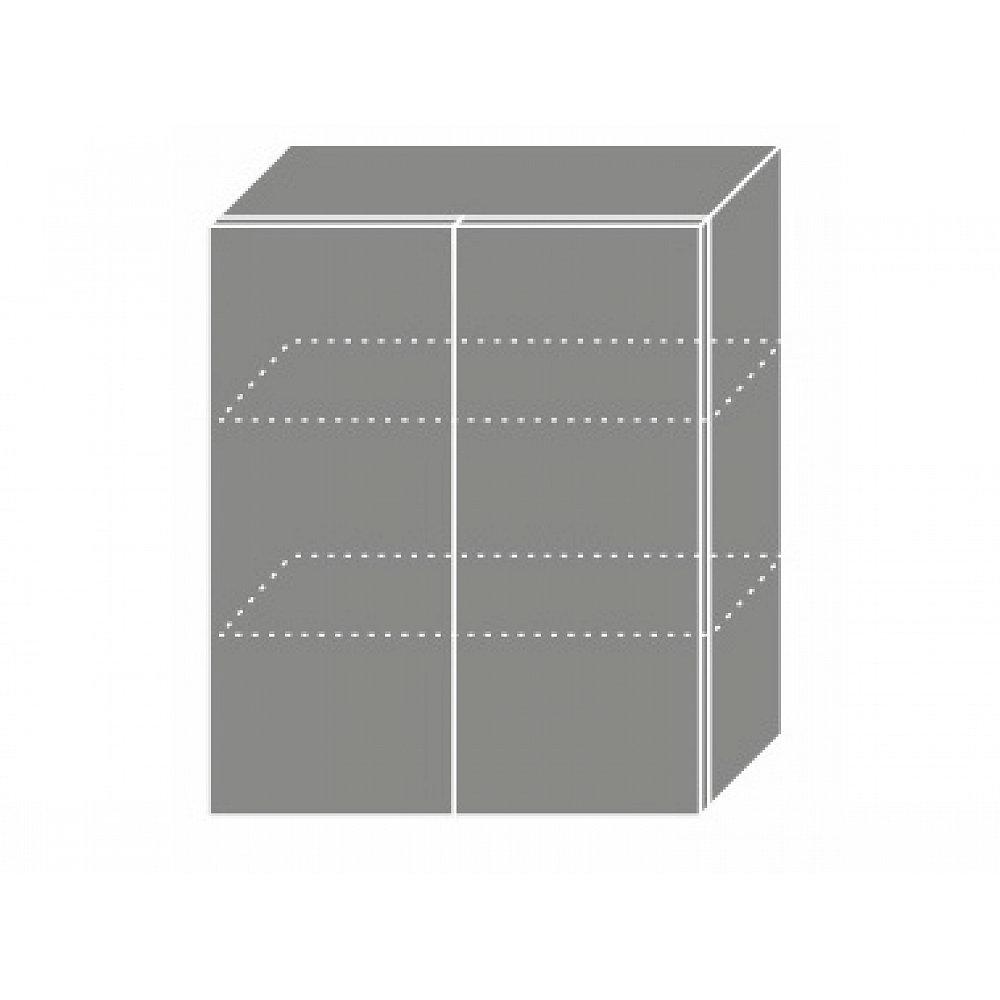 PLATINUM, skříňka horní W3 60, korpus: grey, barva: black