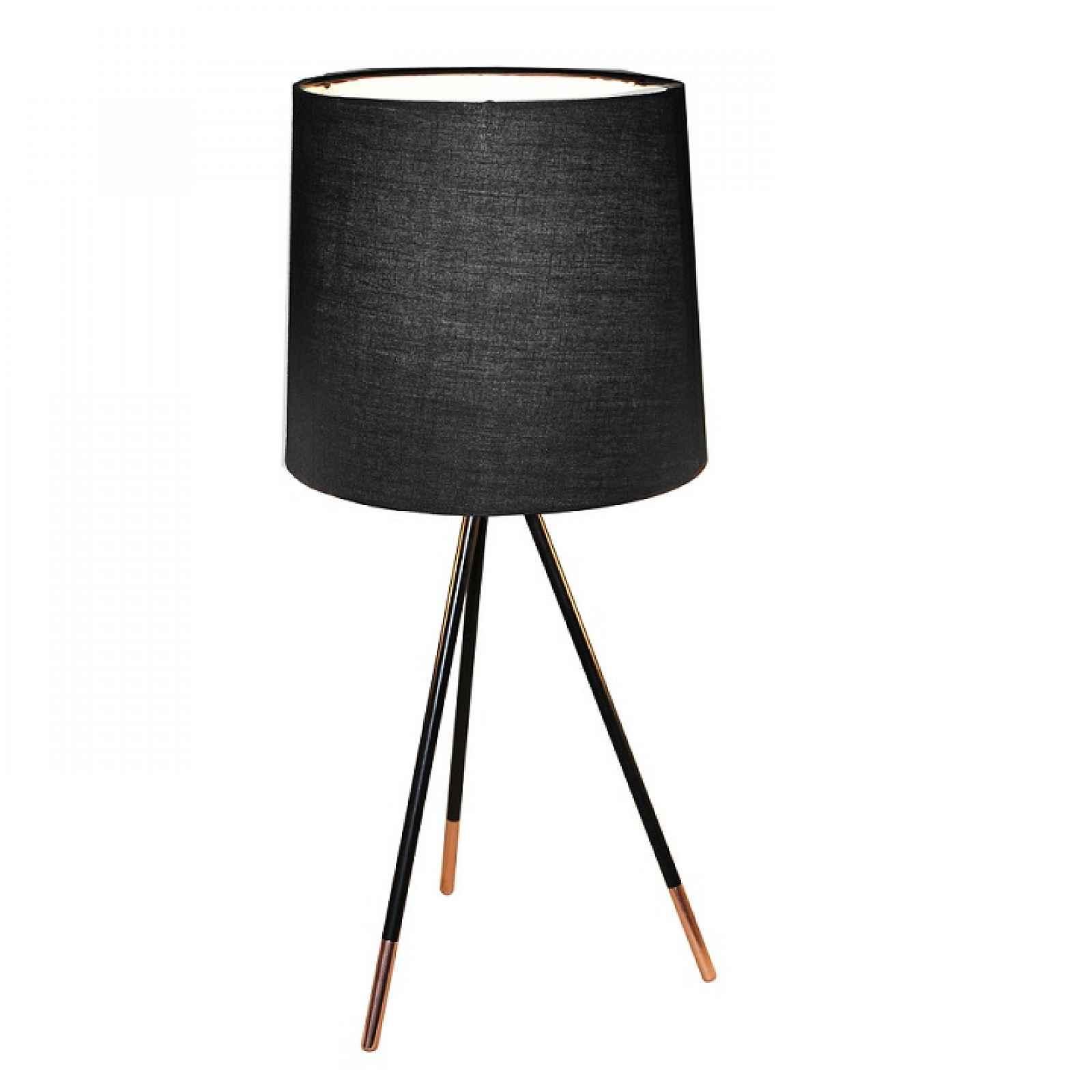 Stolní lampa, černá, JADE TYP 4 0000192028 Tempo Kondela