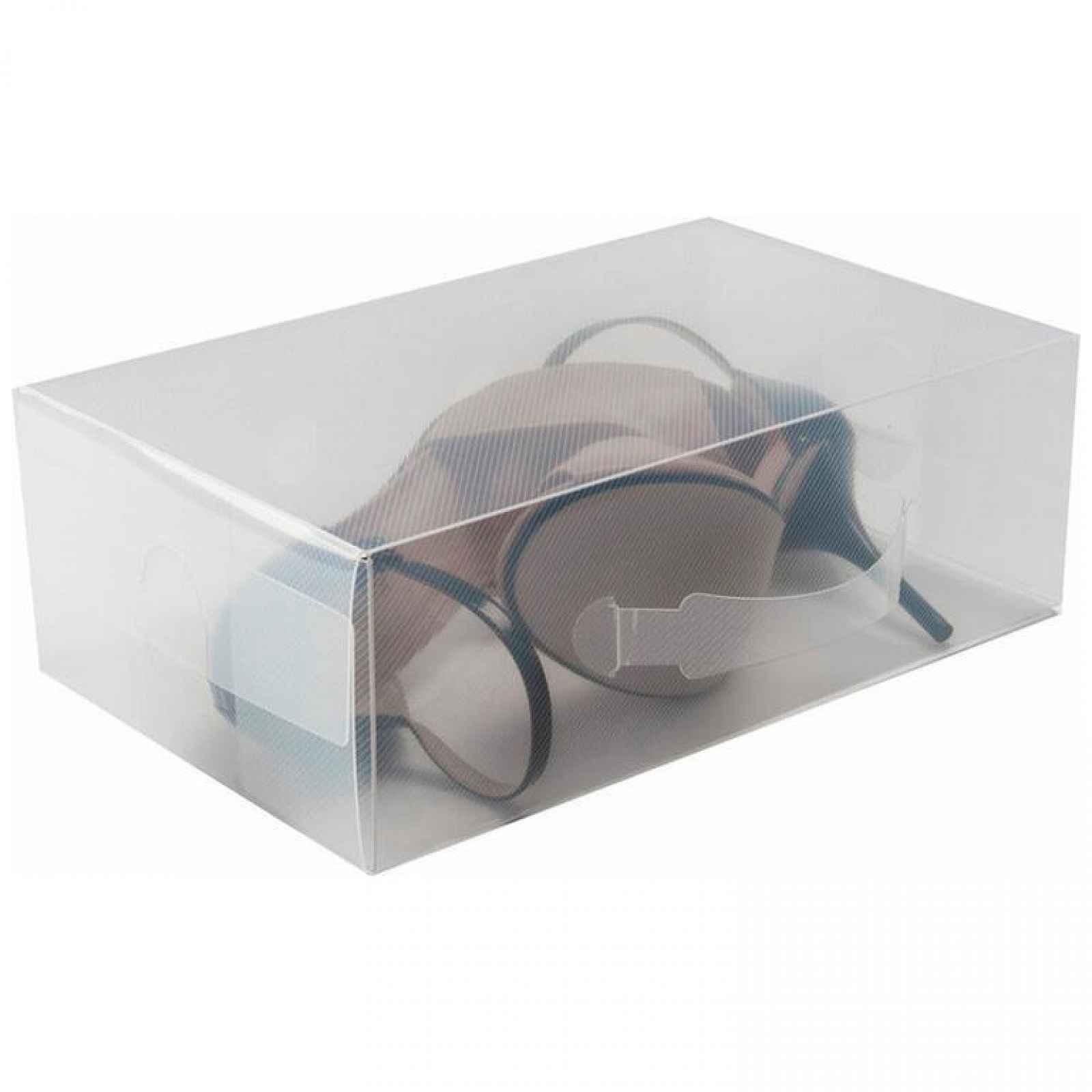 Compactor Transparentní úložný box na boty lodičky L