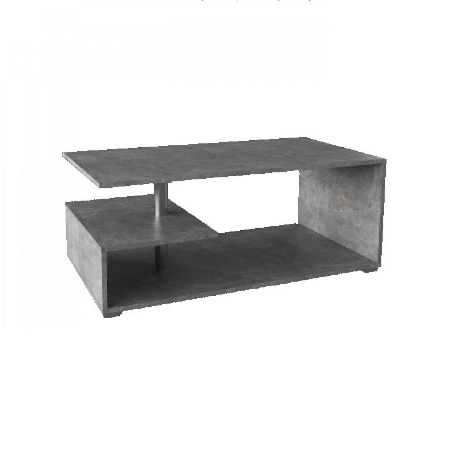 Konferenční stolek na kolečkách, beton, DORISA 0000192507 Tempo Kondela
