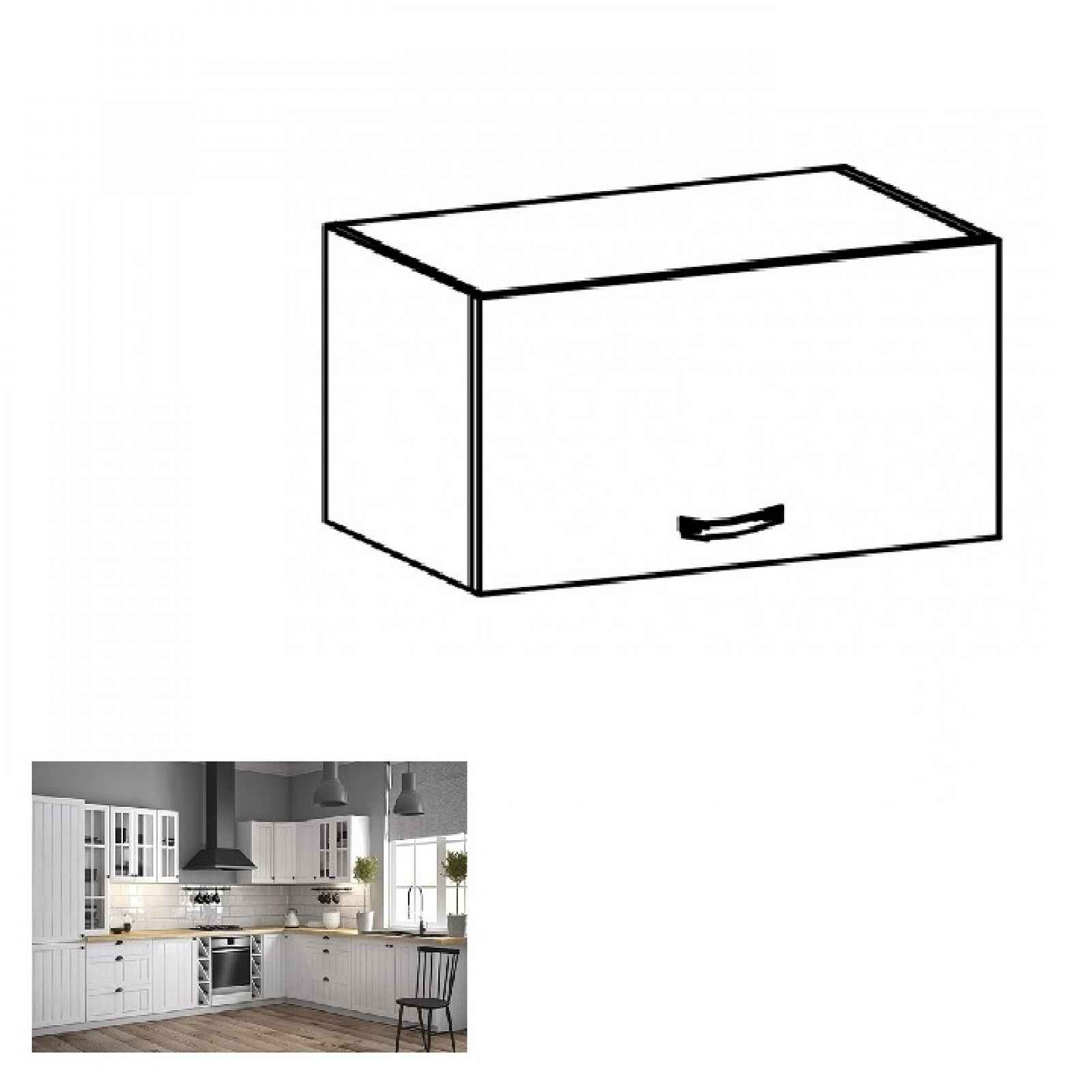Horní skříňka PROVANCE G50 bílá / sosna andersen Tempo Kondela