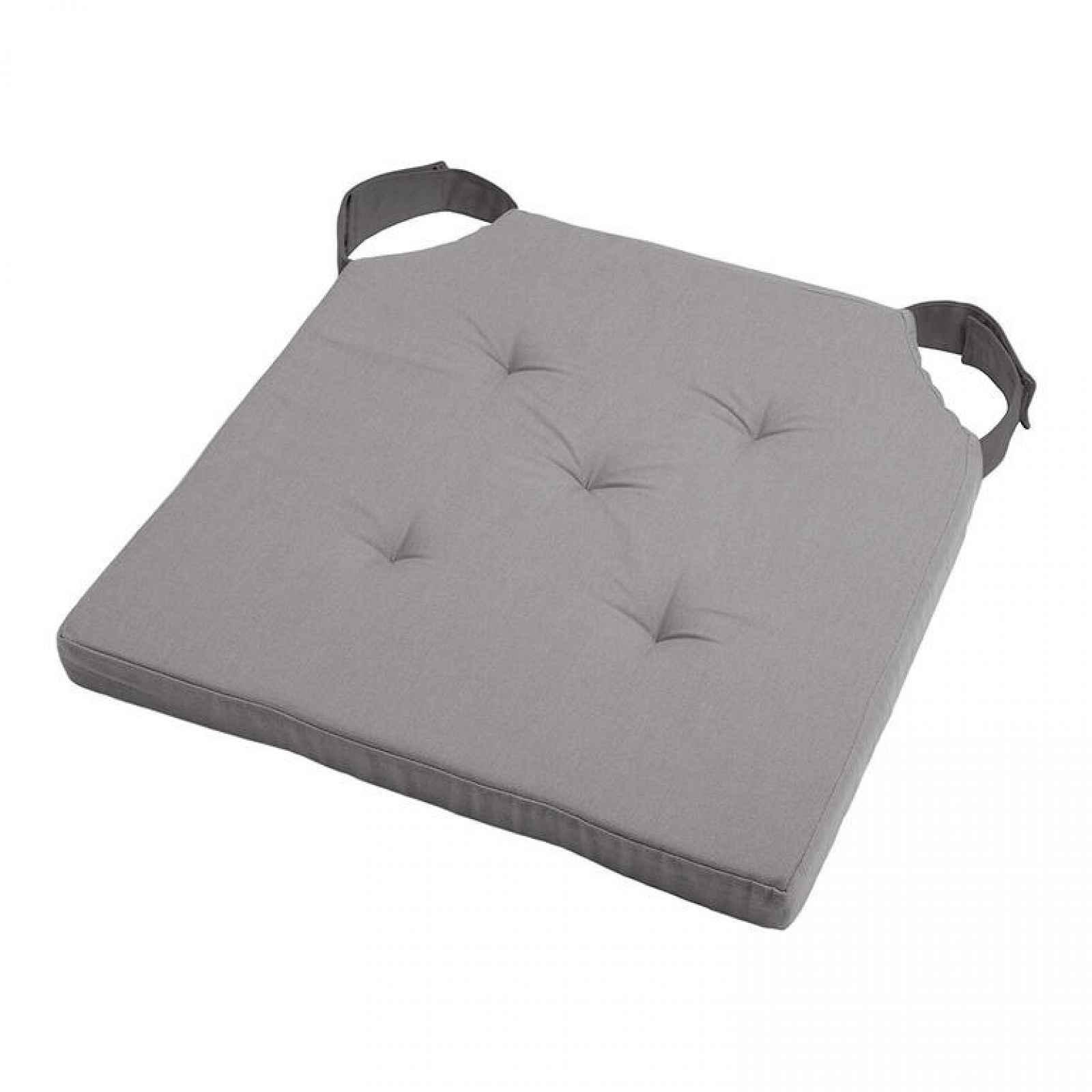 Podsedák na židli DUO UNI se suchým zipem šedá sada 4 kusů