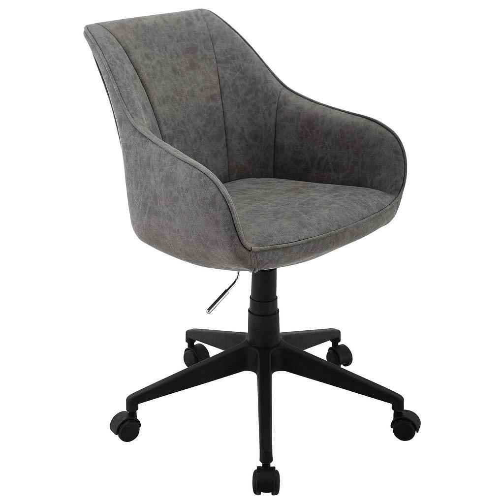 Landscape Otočná Židle, Šedá, Mikrovlákno - Otočné židle - 002381033601