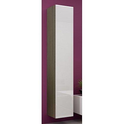 Vigo - Vitrína závěsná 180, 1x dveře (dub sonoma/bílá lesk)