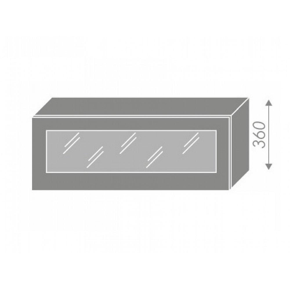 EMPORIUM, skříňka horní prosklená W4bs 90 WKF, korpus: bílý, barva: grey stone