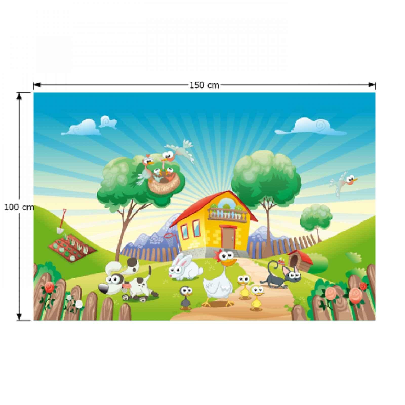 Dětský koberec JENNY vzor farma Tempo Kondela 100x150 cm