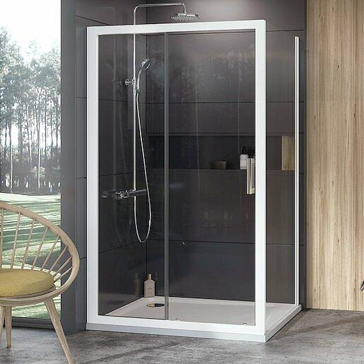 Boční zástěna ke sprchovým dveřím 100x190 cm Ravak 10° bílá 9UVA0100Z1