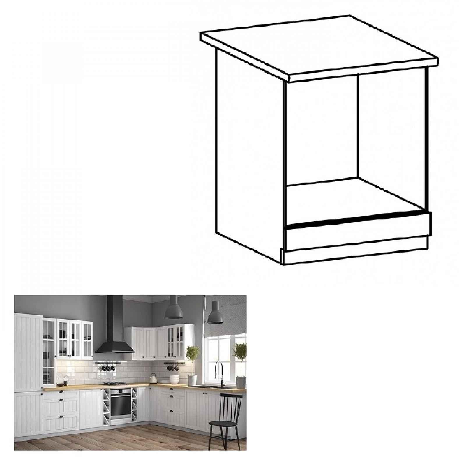 Spodní skříňka na vestavěné spotřebiče PROVANCE D60ZK bílá / sosna andersen Tempo Kondela