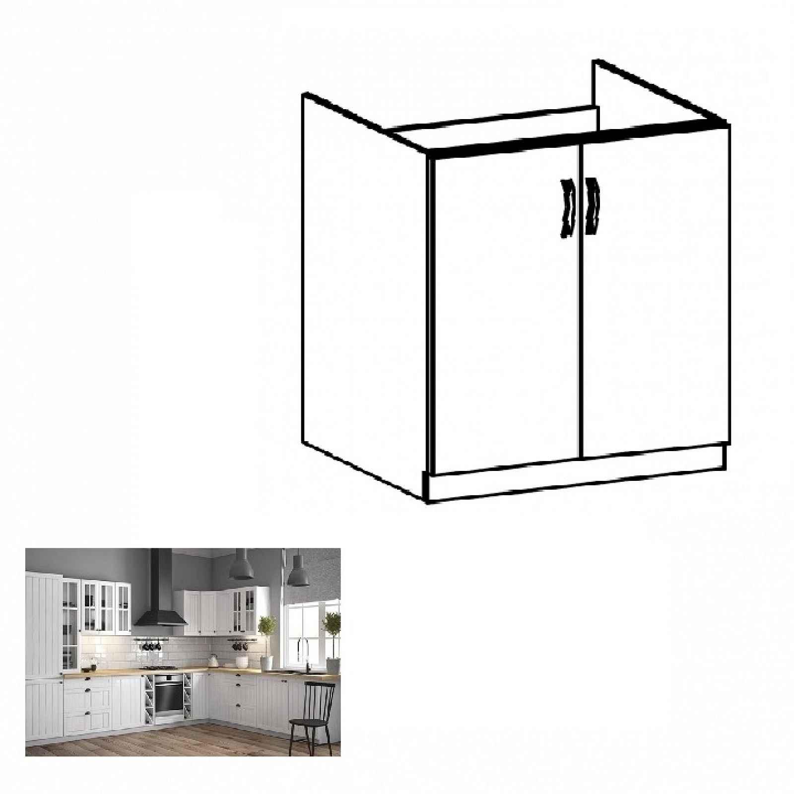 Dřezová skříňka PROVANCE D80Z bílá / sosna andersen Tempo Kondela