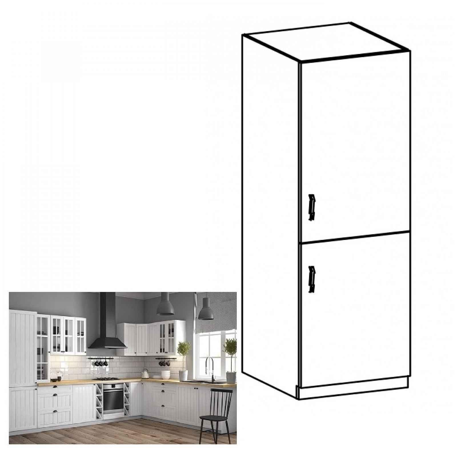 Sříňka na vestavěnou lednici PROVANCE D60ZL bílá / sosna andersen Tempo Kondela Pravé