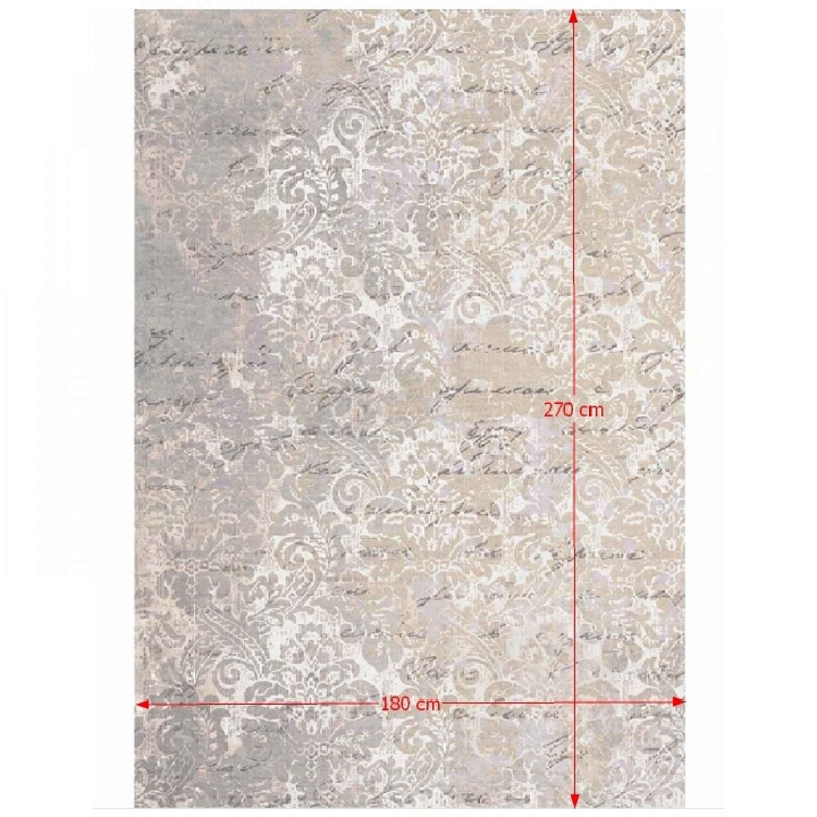 Koberec s třásněmi BALIN béžová / vzor Tempo Kondela 180x270 cm