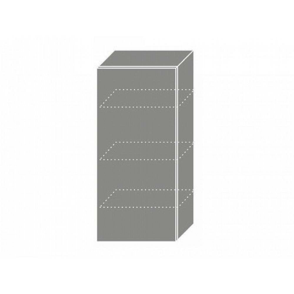 PLATINUM, skříňka horní W4 45, korpus: grey, barva: black