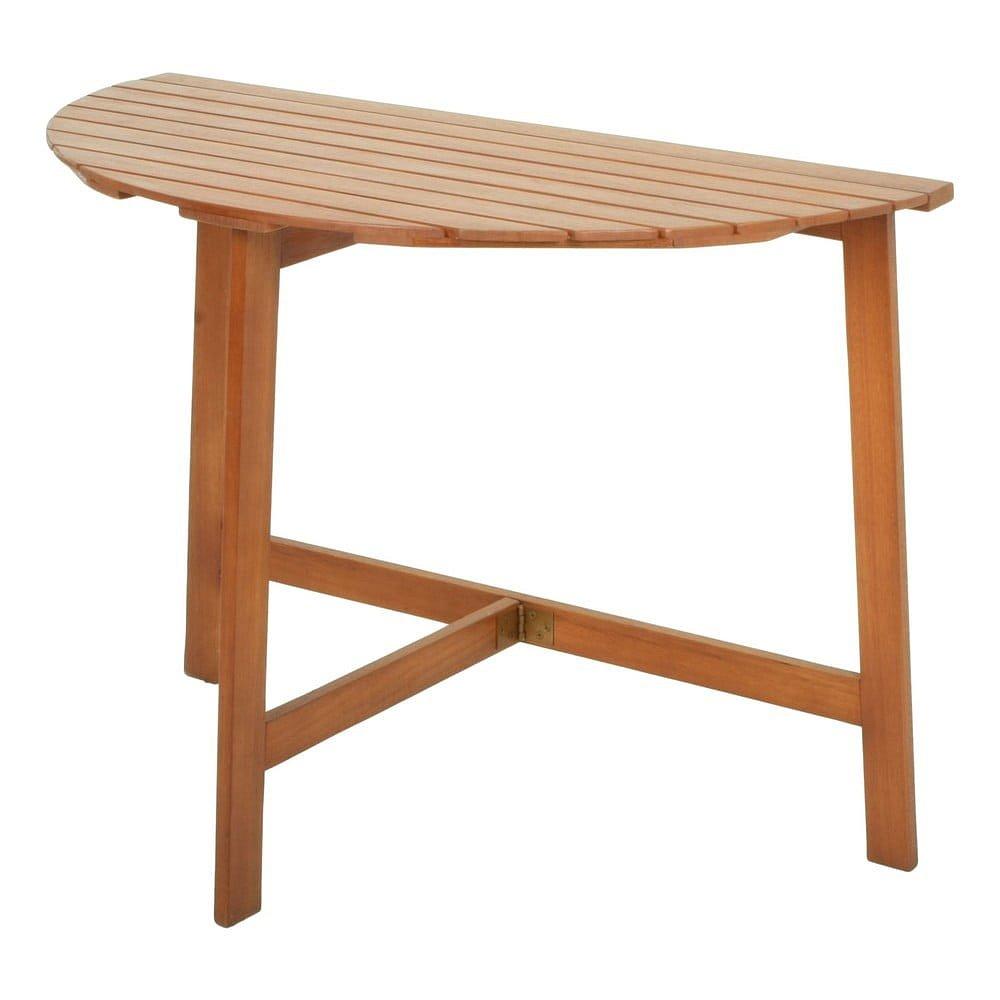 Zahradní půlkruhový stůl ze dřeva eukalyptu ADDU Compton, 110x50cm