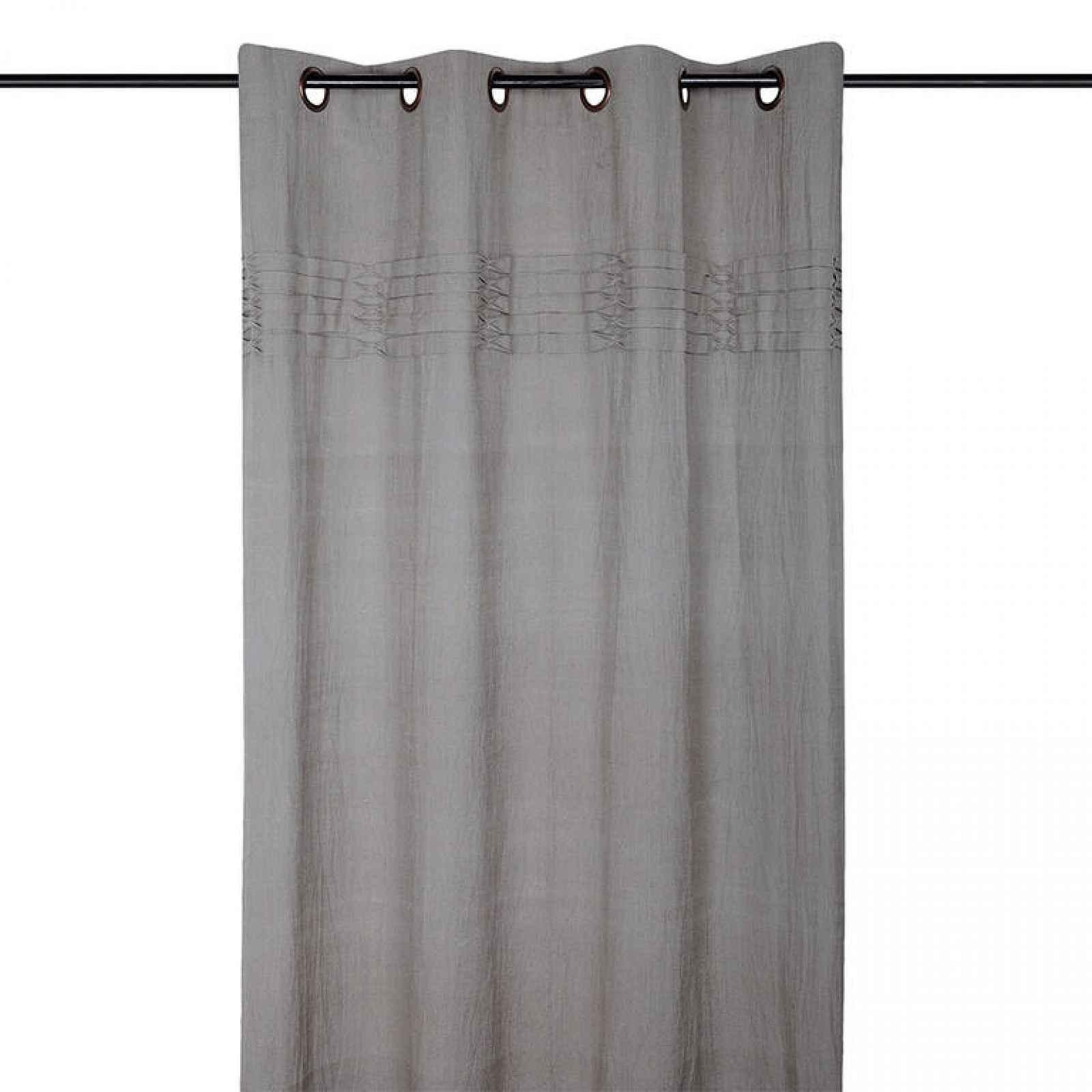 Dekorační závěs EMILIE šedá 140 x 260 cm 1 ks