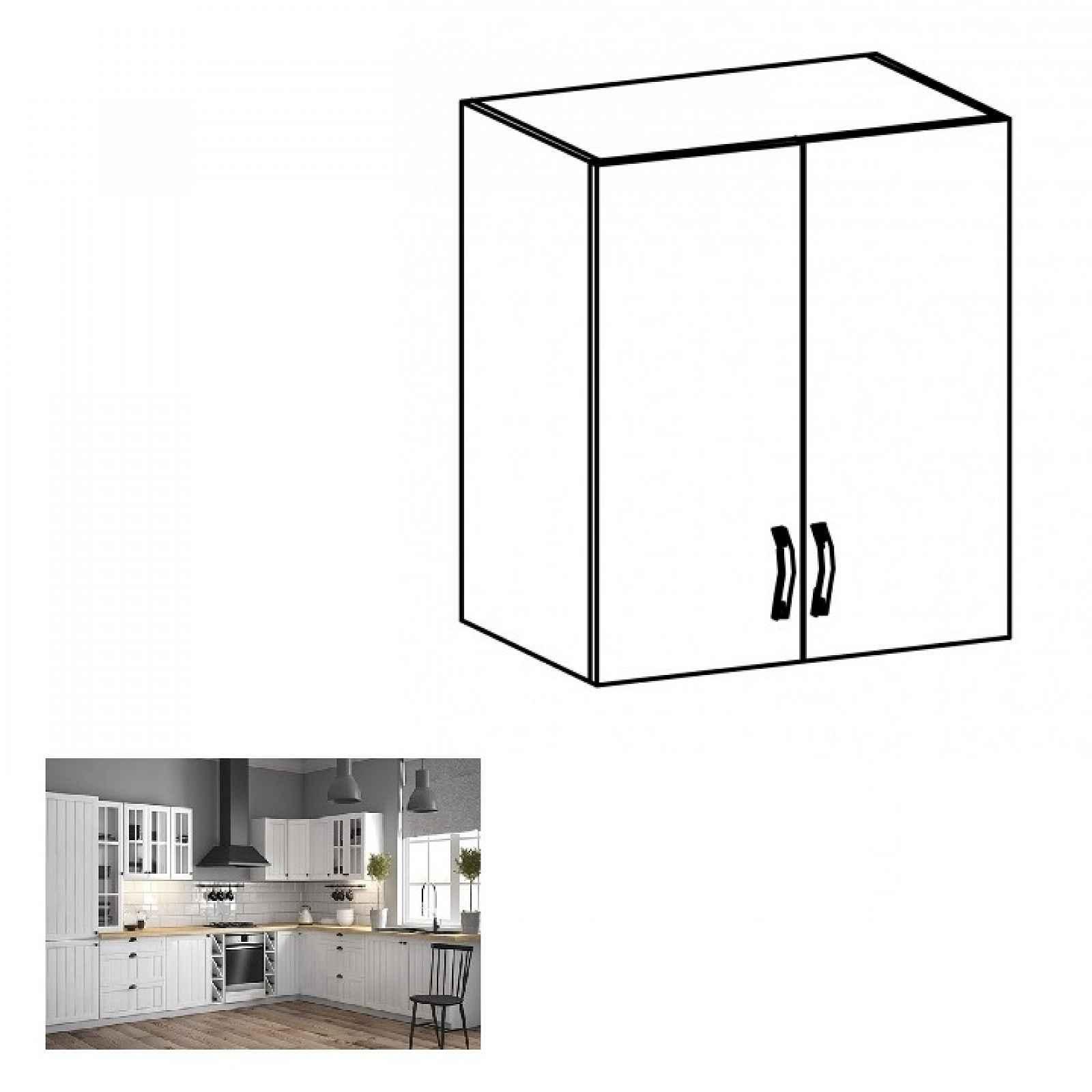 Horní skříňka PROVANCE G60 bílá / sosna andersen Tempo Kondela