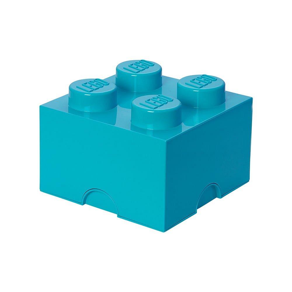 Azurově modrý úložný box čtverec LEGO®