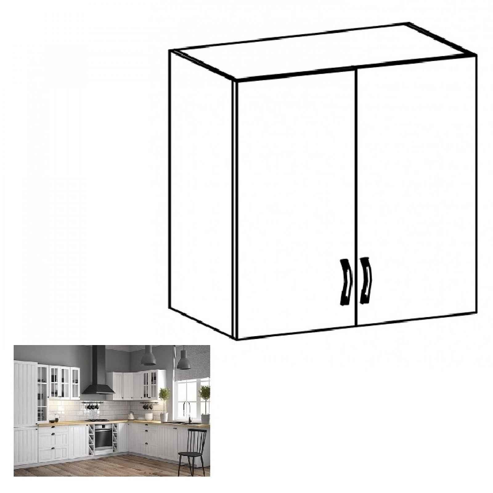 Horní skříňka PROVANCE G80 bílá / sosna andersen Tempo Kondela