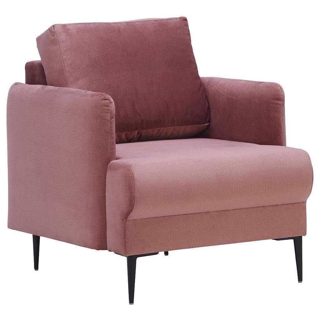 Carryhome Křeslo, Textil, Růžová - Křesla - 002300014503
