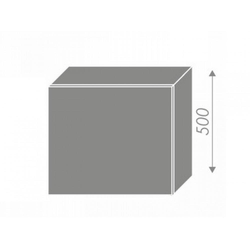 PLATINUM, skříňka horní na digestoř W8 60, korpus: grey, barva: rose red