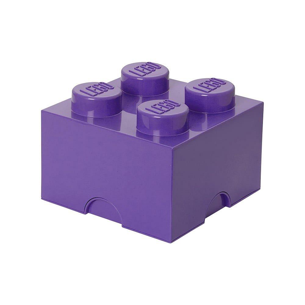 Fialový úložný box čtverec LEGO®