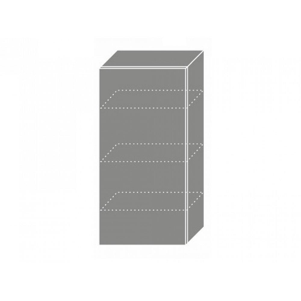 PLATINUM, skříňka horní W4 50, korpus: grey, barva: black