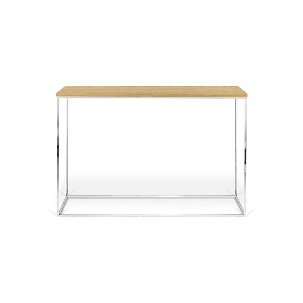 Konzolový stolek s dubovou dýhou TemaHome