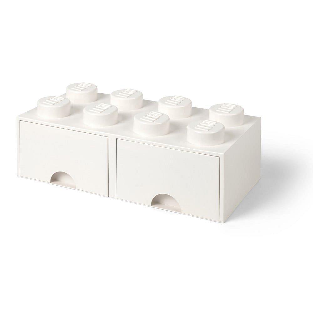 Bílý úložný box se dvěma šuplíky LEGO®