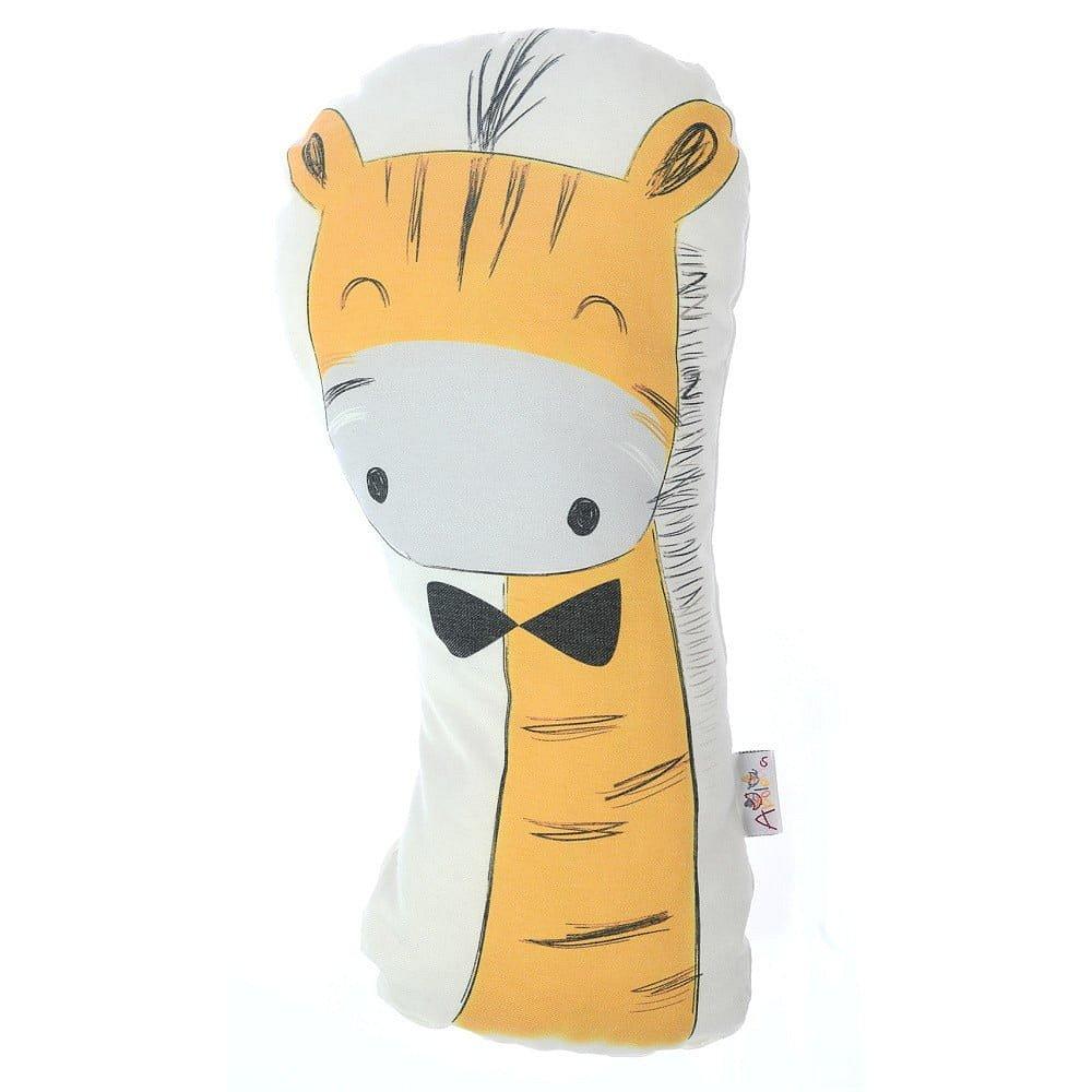 Dětský polštářek s příměsí bavlny Apolena Pillow Toy Giraffe, 17 x 34 cm
