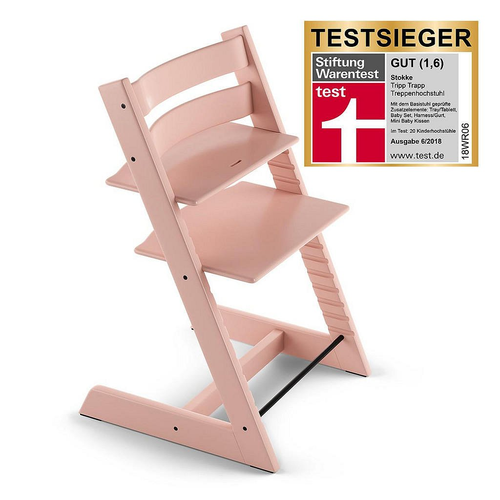 Stokke Vysoká Židle, Buk, Světle Růžová - 004792001534