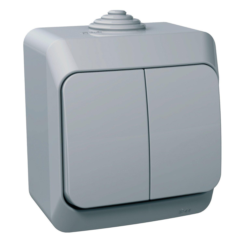 Přepínač sériový Schneider Cedar, šedá, IP 44, 5