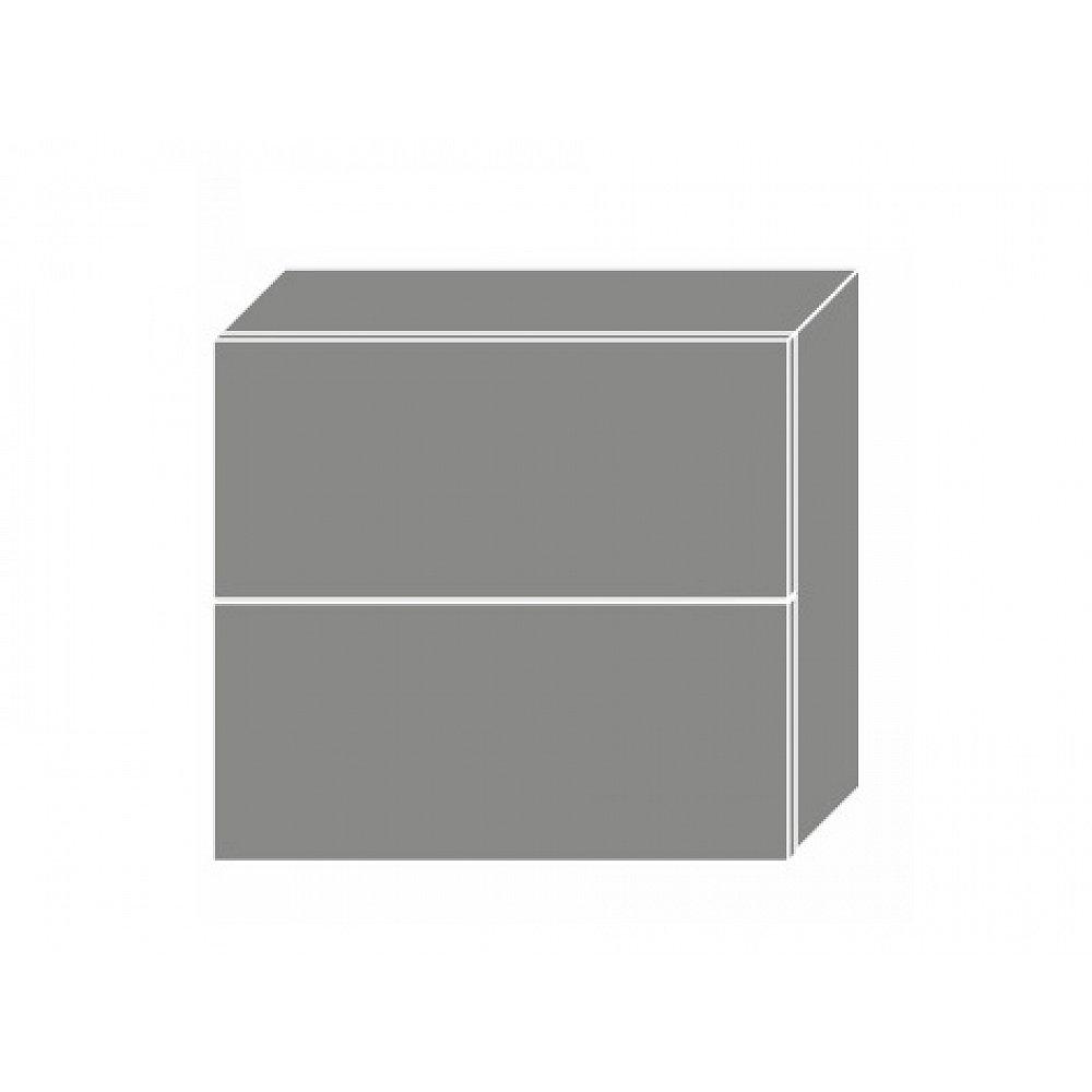 TITANIUM, horní skříňka W8B 80 AV, korpus: grey, barva: fino bílé