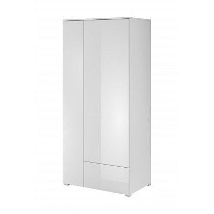 Obýváková skříň Simple (bílá, bílá lesk)