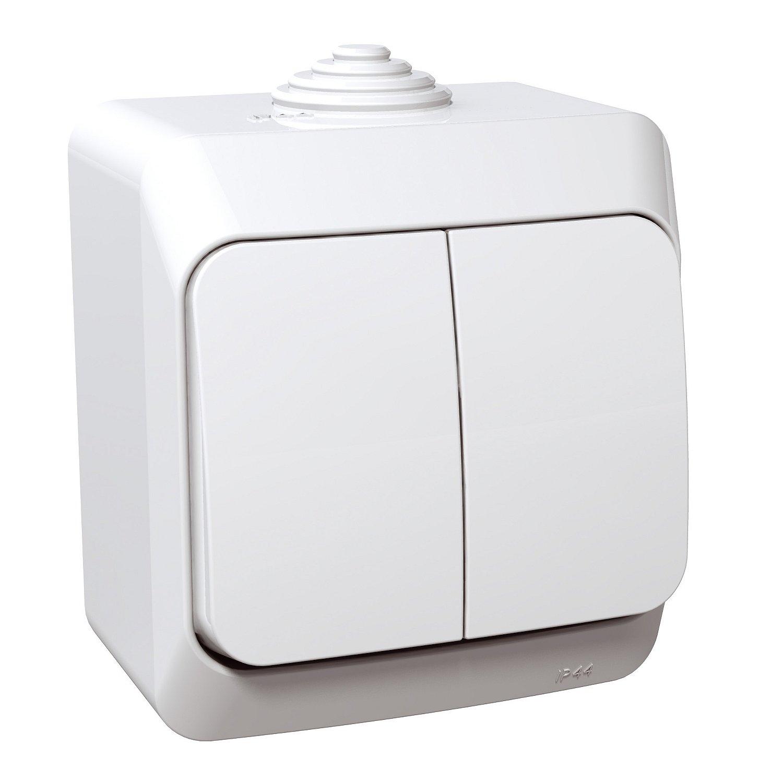 Přepínač sériový Schneider Cedar, bílá, IP 44, 5